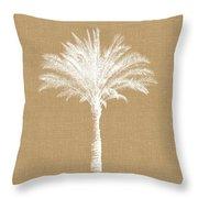 Burlap Palm Tree- Art By Linda Woods Throw Pillow