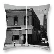 Burlington, Nc - Main Street And Front Throw Pillow