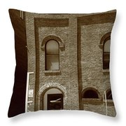 Burlington North Carolina - Arches And Alley Sepia Throw Pillow