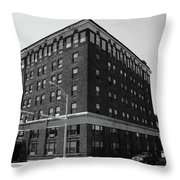 Burlington North Carolina - Main Street Bw Throw Pillow