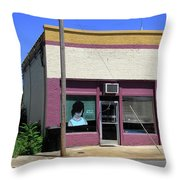 Burlington North Carolina - Small Town Business Throw Pillow