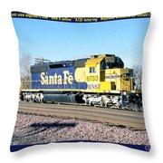 Burlington Northern Santa Fe Bnsf Throw Pillow