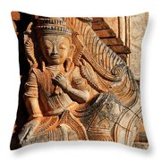 Burmese Pagoda Sculpture Throw Pillow