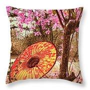 Burmese Spring Throw Pillow