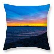 Burn Across The Bay Throw Pillow