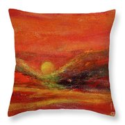 Burn Throw Pillow by Kim Nelson