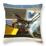 Burn Out On The Track Throw Pillow