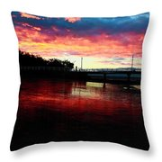 Burn Sunset Throw Pillow