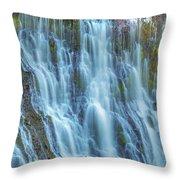 Burney Falls Detail Throw Pillow