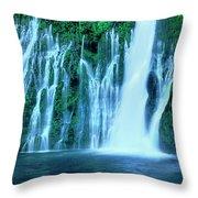 Burney Falls Mcarthur Burney State Park California Throw Pillow