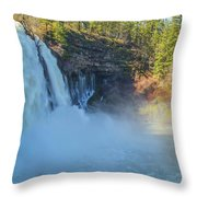 Burney Falls Wide View Throw Pillow
