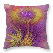 Burning Bush Throw Pillow
