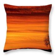 Burning Country Sky Throw Pillow