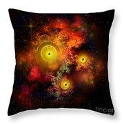 Burning Embers Nebula Throw Pillow