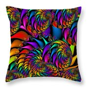 Burning Embers Throw Pillow