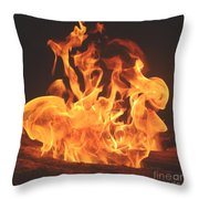 Burning Fire Throw Pillow by Stephanie  Varner
