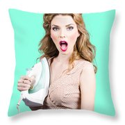 Burning Hot Fashion Throw Pillow