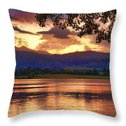 Burning Lake   Throw Pillow