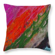 Burning Lava Throw Pillow