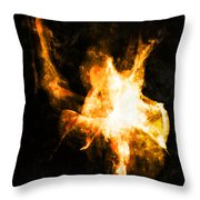 Burning Man Throw Pillow