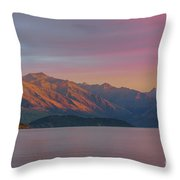 Burning Mountain Throw Pillow
