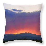 Burning Rays Of Sunset Throw Pillow