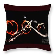 Burning Rings Of Fire Throw Pillow