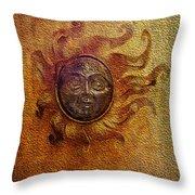 Burning Sun Throw Pillow