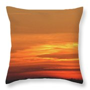 Burning Sunset Throw Pillow