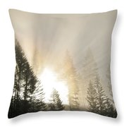 Burning Through The Fog Throw Pillow