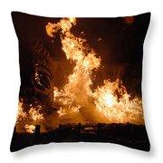 Burning Water Throw Pillow