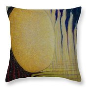 Burning Yellow Throw Pillow