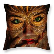 Burnished Gold Throw Pillow