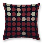 Burnt Dots Throw Pillow