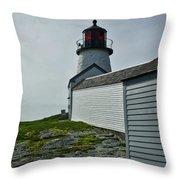 Burnt Island Light Station 3 Throw Pillow