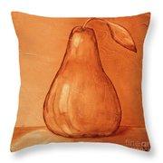 Burnt Sienna Pear Throw Pillow