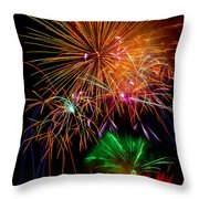 Burst Of Bright Colors Throw Pillow