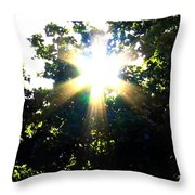 Burst Of Sunlight Throw Pillow