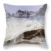 Burst Of Waves Throw Pillow
