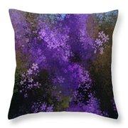 Bursting Blooms Throw Pillow