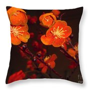 Bursting Into Bloom Throw Pillow