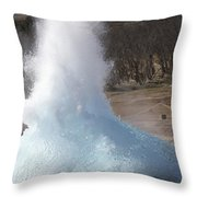 Bursting Water Bubble At Onset Throw Pillow