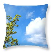 Bursting With New Life Throw Pillow