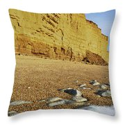 Burton Bradstock Beach Throw Pillow