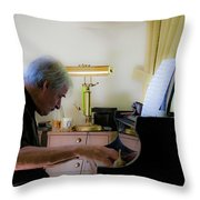 Burton Greene 1 Throw Pillow
