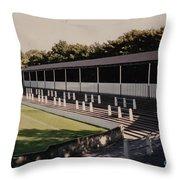 Bury - Gigg Lane - South Stand 1 - 1969 Throw Pillow