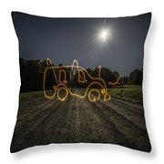 Bus Of Light Throw Pillow