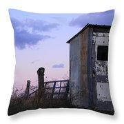 Bus Shelter At Dusk Throw Pillow