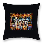 Bus Stop Throw Pillow