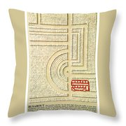 Busabout By London Transport - London Underground, London Metro - Retro Travel Poster Throw Pillow